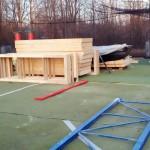 Neues Paintballfeld bei Paintball Günzburg im Aufbau