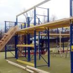 Neues Burg Paintballfeld bei Paintball Günzburg im Aufbau