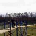 Neues Paintball Feld bei Paintball Günzburg in Bayern wird aufgebaut